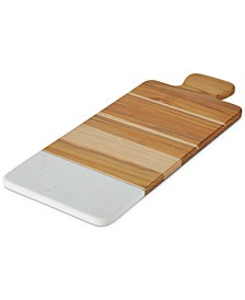 Teak & Marble Cutting Board