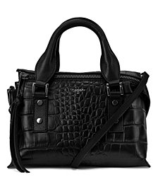 T Tahari Rachel Leather Top Handle Satchel