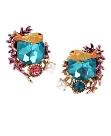 Betsey Johnson Sea Life Cluster Stud Earrings