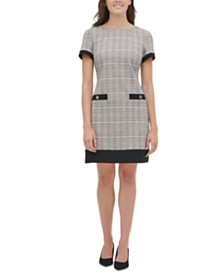 Tommy Hilfiger Plaid Shift Dress