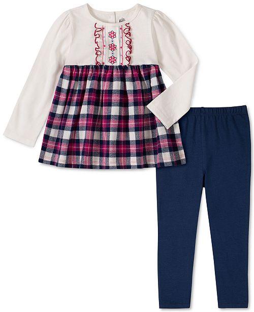 Kids Headquarters Toddler Girls 2-Pc. Plaid Flannel Tunic & Leggings Set