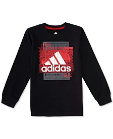 adidas Little Boys Field Court-Print Cotton T-Shirt