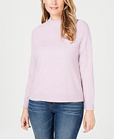 Petite Mock-Neck Sweater, Created For Macy's