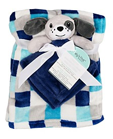 2-Piece Blanket Buddy Set, Blue Dog