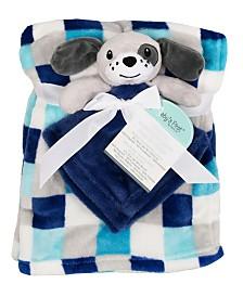 Baby's First by Nemcor 2-Piece Blanket Buddy Set, Blue Dog