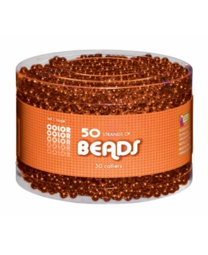 Buy Seasons Adult Orange Bead Necklaces-Accessory Multipack
