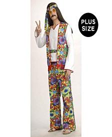 Buy Seasons Men's Hippie Man Plus Costume