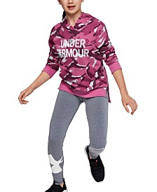 Under Armour Big Girls Rival Fleece Wordmark Hoodie