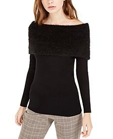 Juniors' Off-The-Shoulder Sweater