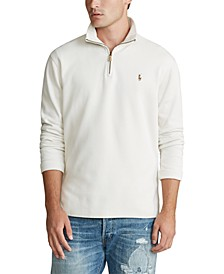 Men's Estate-Rib Quarter-Zip Pullover Sweater, Created for Macy's