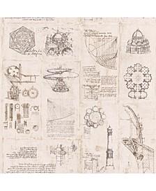 "27"" x 396"" Schizzi Papiro Sketch Wallpaper"