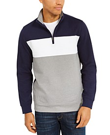 Men's Colorblocked 1/4-Zip Fleece Sweatshirt, Created for Macy's