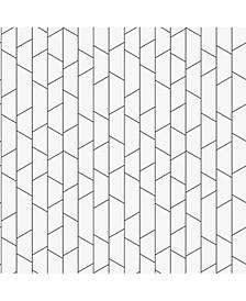 "Engblad Co 21"" x 396"" Angle Geometric Wallpaper"