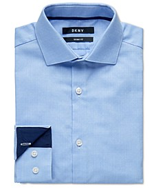 Big Boys Skinny-Fit Light Blue Dot Dress Shirt