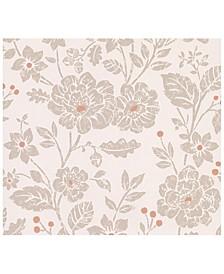 """20.5"""" x 369"""" Bourdain Light Floral Wallpaper"""