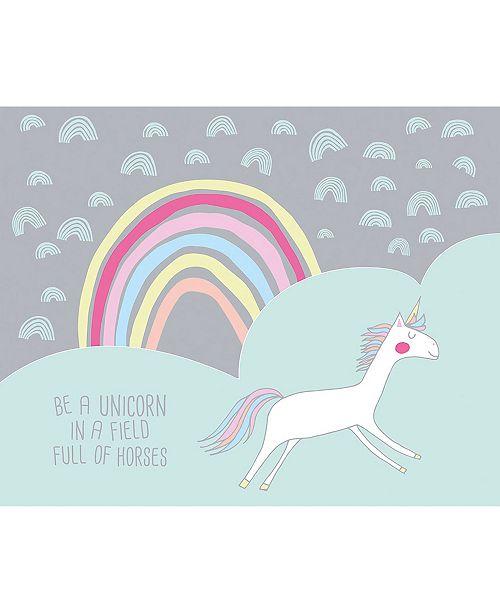 """ohpopsi Unicorn Wall Mural, 118"""" x 94"""""""