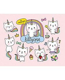 "Kittycorn Wall Mural, 118"" x 94"""