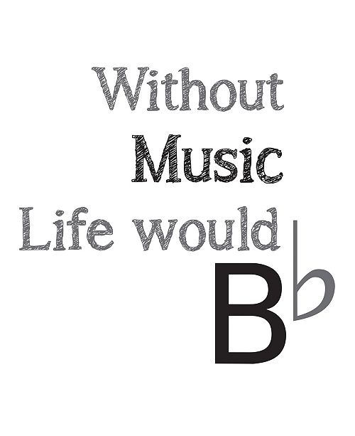 WallPops Life Without Music Wall Quote