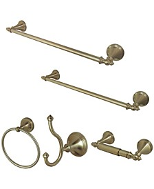 Naples 18-Inch and 24-Inch Towel Bar Bathroom Accessory Set