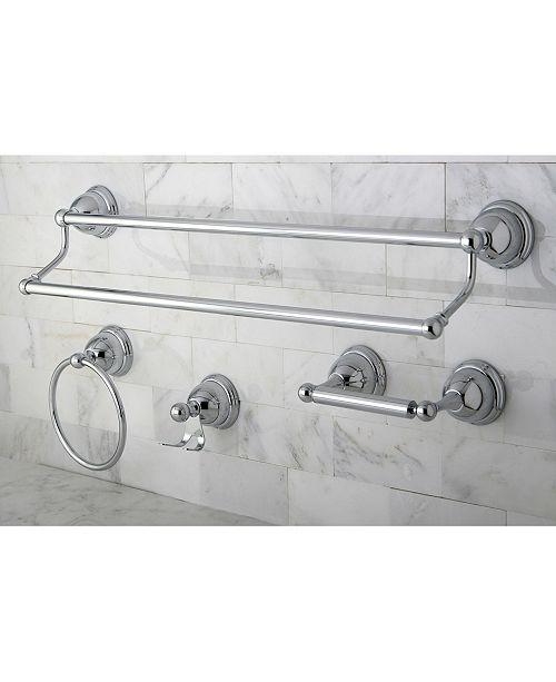 Kingston Brass Restoration 4-Pc. Dual Towel Bar Bathroom
