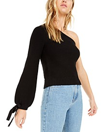 Becca Tilley x One-Shoulder Volume Sleeve Sweater, Created For Macy's