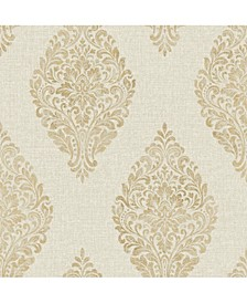 "20.5"" x 369"" Pascale Medallion Wallpaper"