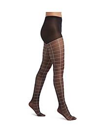 Women's Windowpane Sheers with Control Top Pantyhose