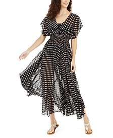 Polka Dot Swim Cover-Up Dress