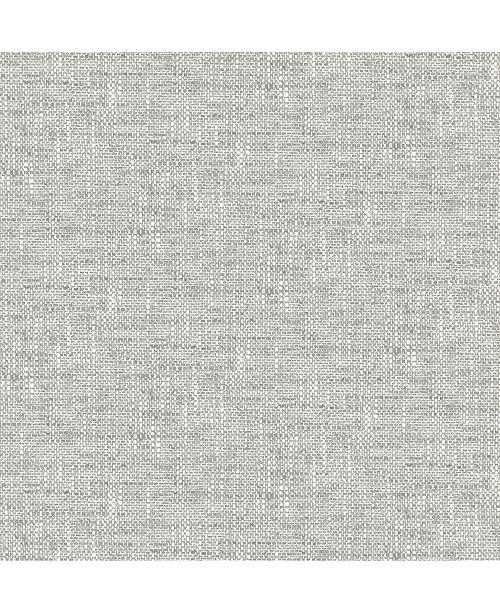 """NuWallpaper 216"""" x 20.5"""" Poplin Texture Peel Stick Wallpaper"""