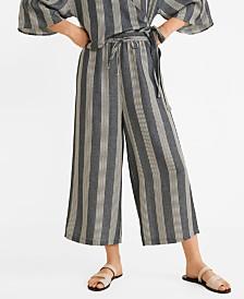 Mango Straight Striped Trousers