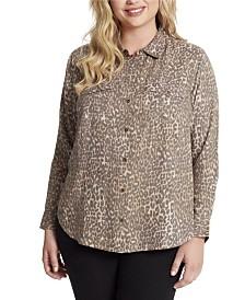 Jessica Simpson Junior Petunia Twill Button Up Shirt
