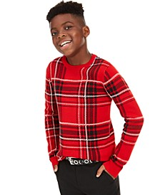 Big Boys Plaid Family Sweater, Created For Macy's