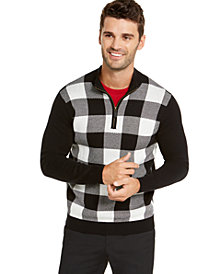 Charter Club Men's Buffalo Check Family Sweater, Created For Macy's