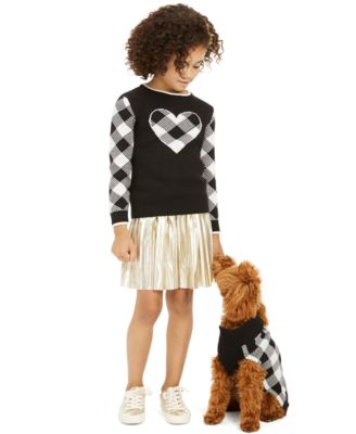 Little Girls Buffalo Check Family Sweater, Created For Macy's