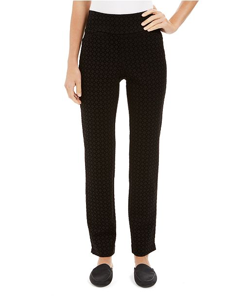 Charter Club Pull-On Tummy Control Pants, Created For Macy's