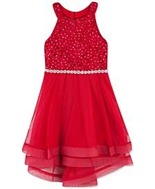 Little Girls Lace Crinoline-Trim Dress