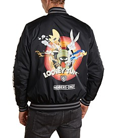 Member's Only Men's Looney Tunes Mash Print Bomber Jacket