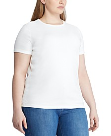 Plus Size Cotton Knit Top