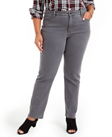 Charter Club Plus Size Lexington Straight-Leg Jeans, Created For Macy's