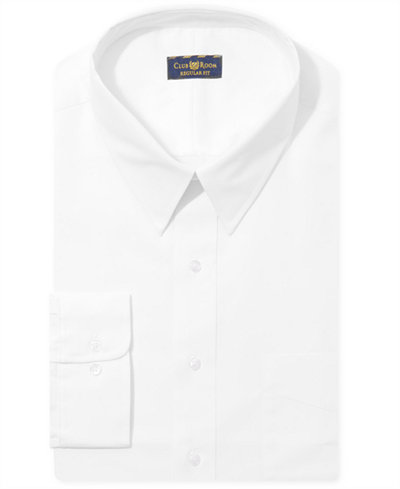 Club Room Estate Big and Tall Wrinkle Resistant White Dress Shirt