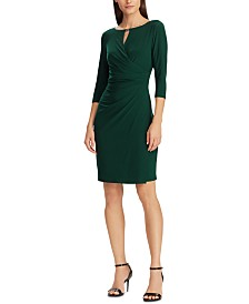 Lauren Ralph Lauren Keyhole Stretch Jersey Dress