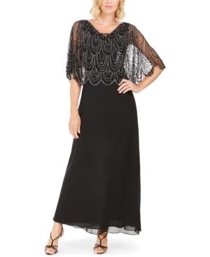 1930s Evening Dresses | Old Hollywood Dress J Kara Embellished-Top Gown $252.99 AT vintagedancer.com
