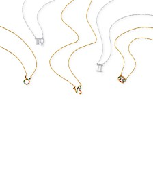 Unwritten Cubic Zirconia Zodiac Crystal Pendant Necklace Collection