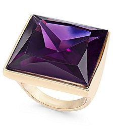 INC Gold-Tone Large Square Stone Statement Ring, Created For Macy's