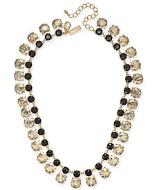 "INC Gold-Tone Stone Collar Necklace, 17"" + 3"" extender, Created For Macy's"