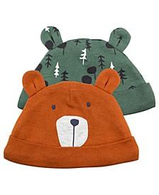Baby Boy 2-Pack Bear-Eared Caps
