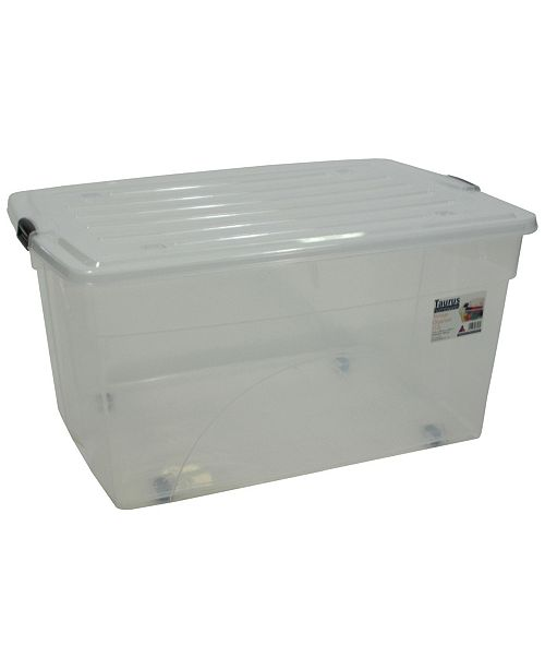 TAURUS 30 Gallon Rolling Bin Storage Organizer
