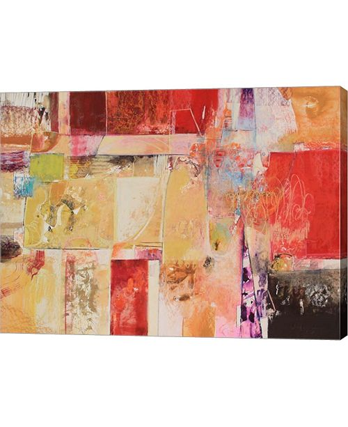 """Metaverse Copper and Red Series 4 by Jennifer Gardner Canvas Art, 26.75"""" x 20"""""""