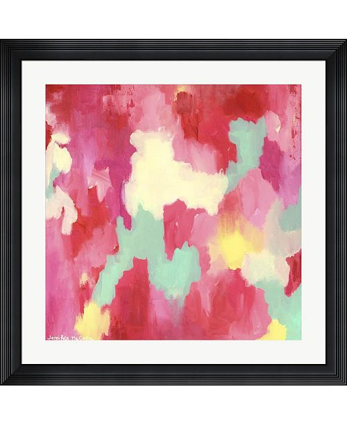 "Metaverse Candy Clouds - Abstract by Jennifer McCully Framed Art, 32"" x 32"""