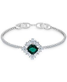 Silver-Tone Crystal Flex Bracelet